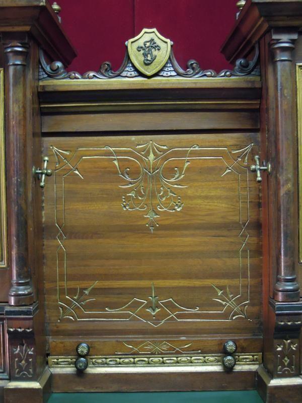 Antique Captains Desk Nautical Painted Panels Detroit MI 1879 | Detroit,  Desks and Antique furniture - Antique Captains Desk Nautical Painted Panels Detroit MI 1879