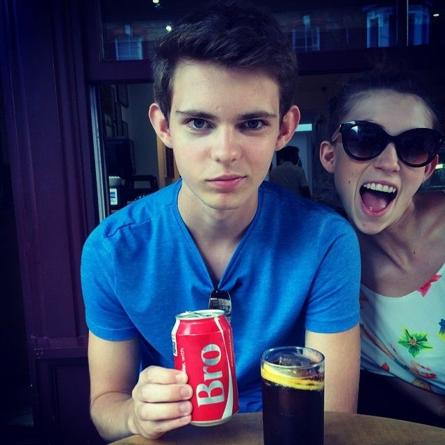 Robbie with his sister Camilla<<<<hahaha no kidding