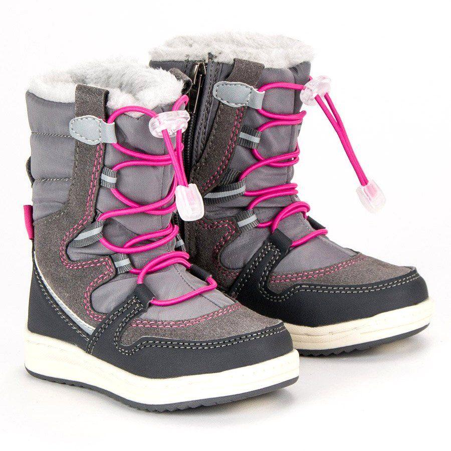 Kozaki Dla Dzieci Arrigobello Arrigo Bello Szare Ocieplane Sniegowce Boots Winter Boot Shoes