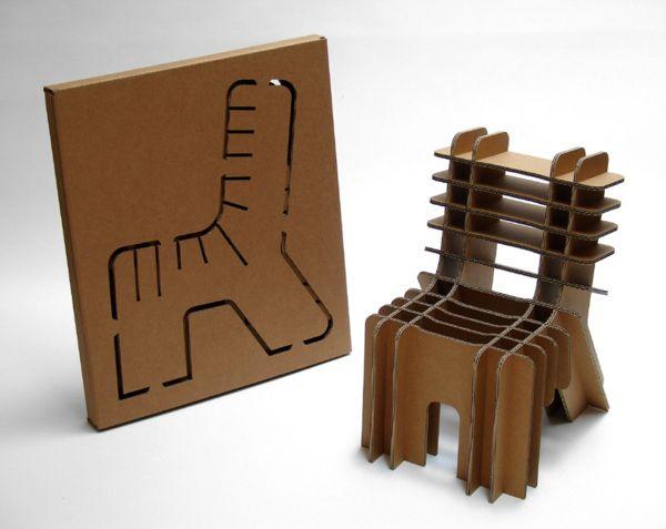 Chaise Chaise Pour Enfant Et Tabouret En Carton De David Grass Bricolages En Carton Chaise En Carton Carton Diy