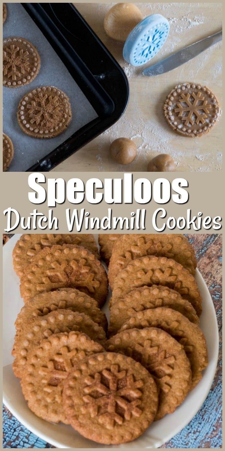 Speculoos Dutch Windmill Cookies a traditional stamped