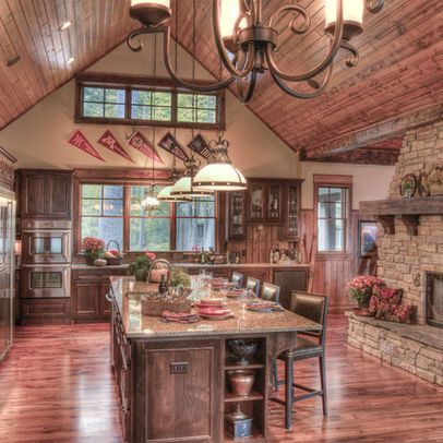 Kitchen photos double sided fireplace design pictures remodel decor and ideas kitchen for Kitchen fireplace design ideas