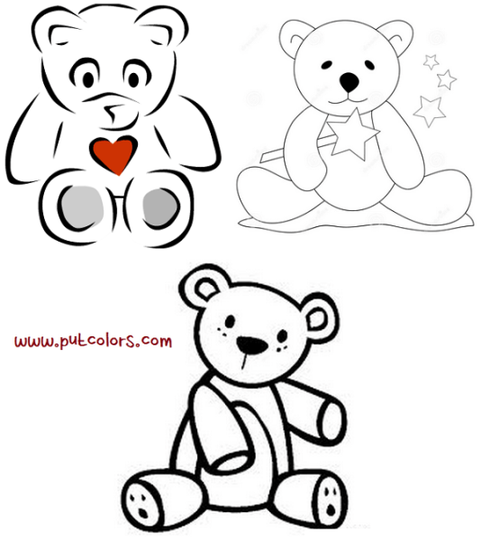 Teddy Bear Book Coloring Pages TeddyBearColorngPages