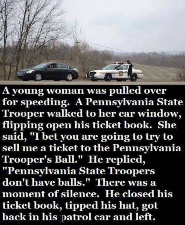 State Trooper's don't have balls.   State trooper, Funny star wars memes,  Funny pictures
