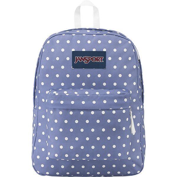 ca54c1a2b4 JanSport SuperBreak Backpack - Bleached Denim   White Dot - School ...