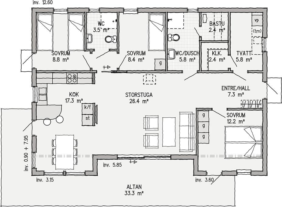 Tylösand 106 | Ett bättre boende. Arkitektritade hus, bygga fritidshus | VärsåsVillan