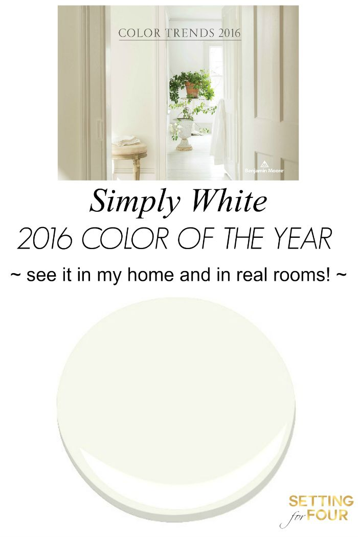 color of the year 2016 simply white blogger home projects we love benjamin moore colors. Black Bedroom Furniture Sets. Home Design Ideas