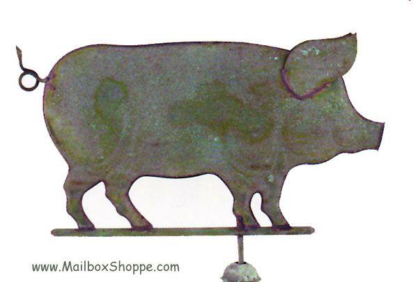 Vintage Weather Vane: Standing Pig Weathervane - $269.00