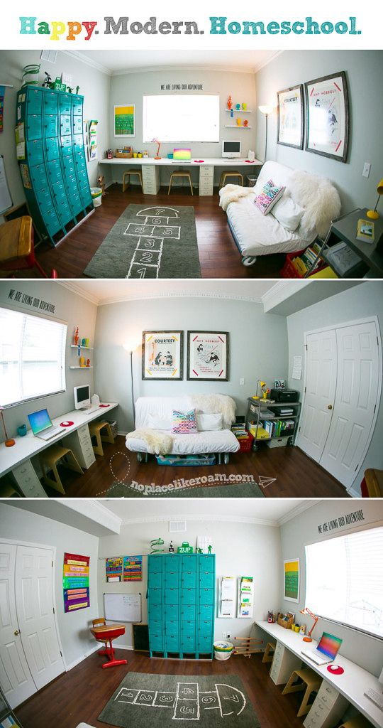 Storage Area And Study Room: A Happy Schoolroom/ A Dynamite Decorating Project Perfect