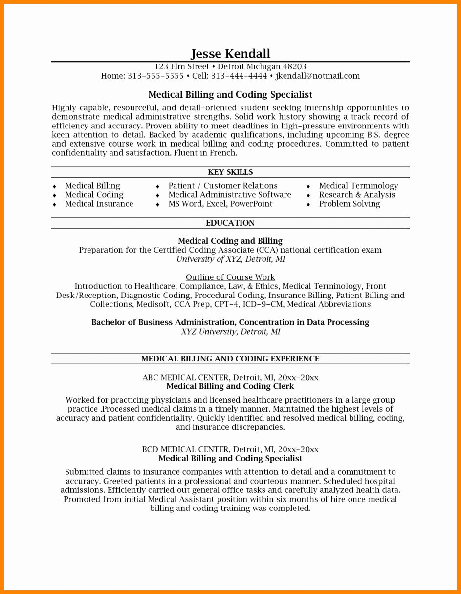 23 Medical Coder Resume Example in 2020 Medical coder