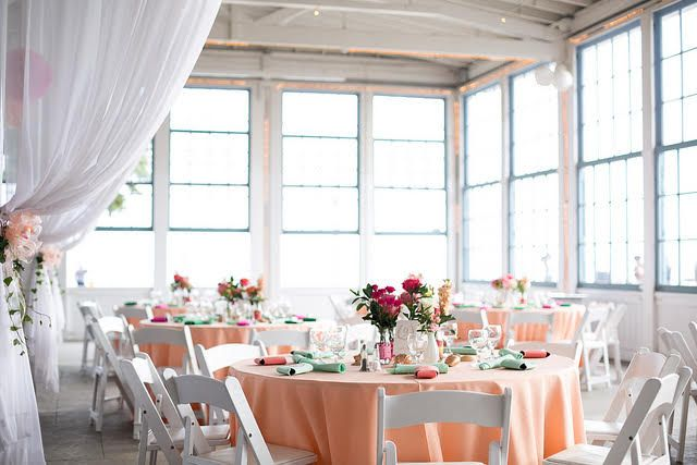 Chair Cover Rentals New Haven Ct Sash Buckles A Beautiful Afternoon Wedding With Peach Floor Length Linens At The Light House Park Carousal In Taylorrentalwallingford