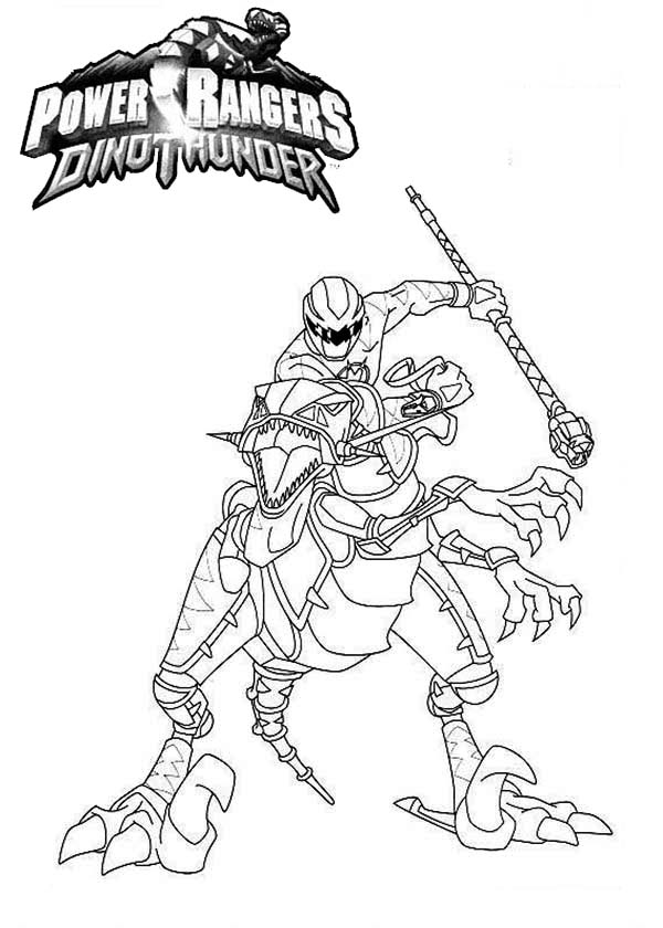 Power Rangers Dinothunder Coloring Page Color Luna Di 2020