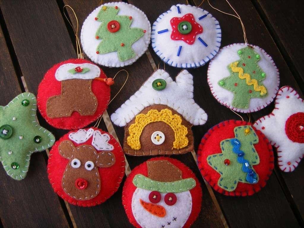 Adornos navide os en fieltro en varios colores navidad - Hacer videos navidenos ...