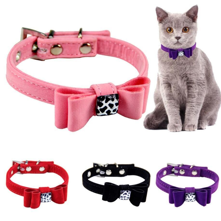 Adjustable Cat Collar With Bow Tie Cat Collars Homemade Cat Toys Dog Cat