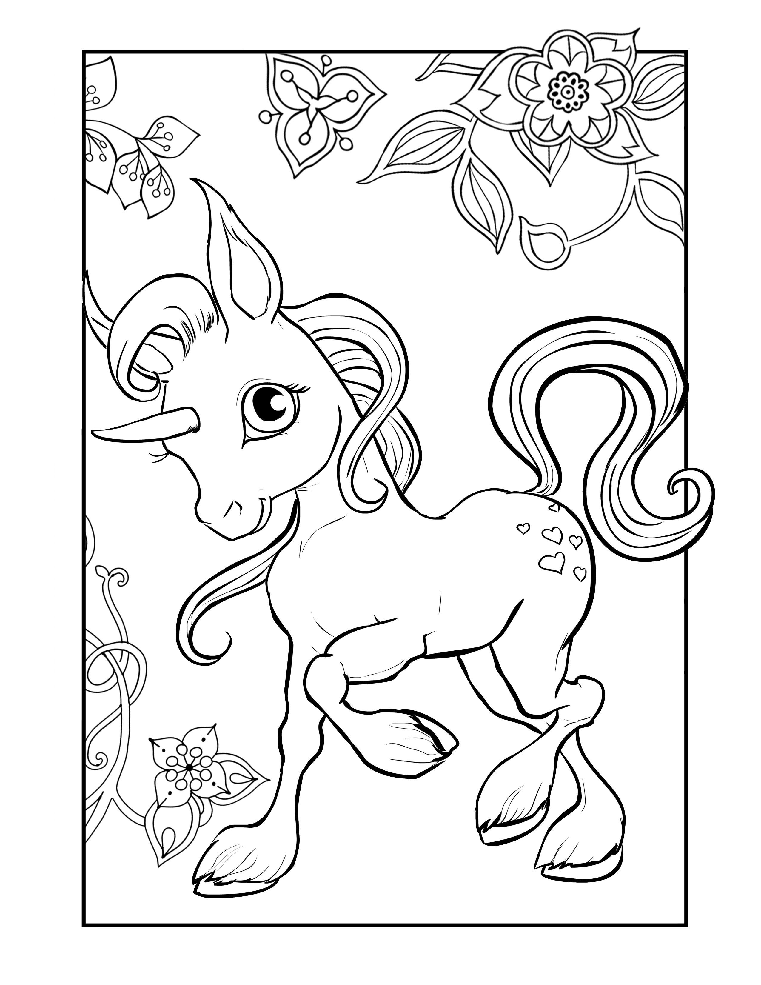 Coloring Unicorn Pdf Coloring Pages Allow Kids To Accompany