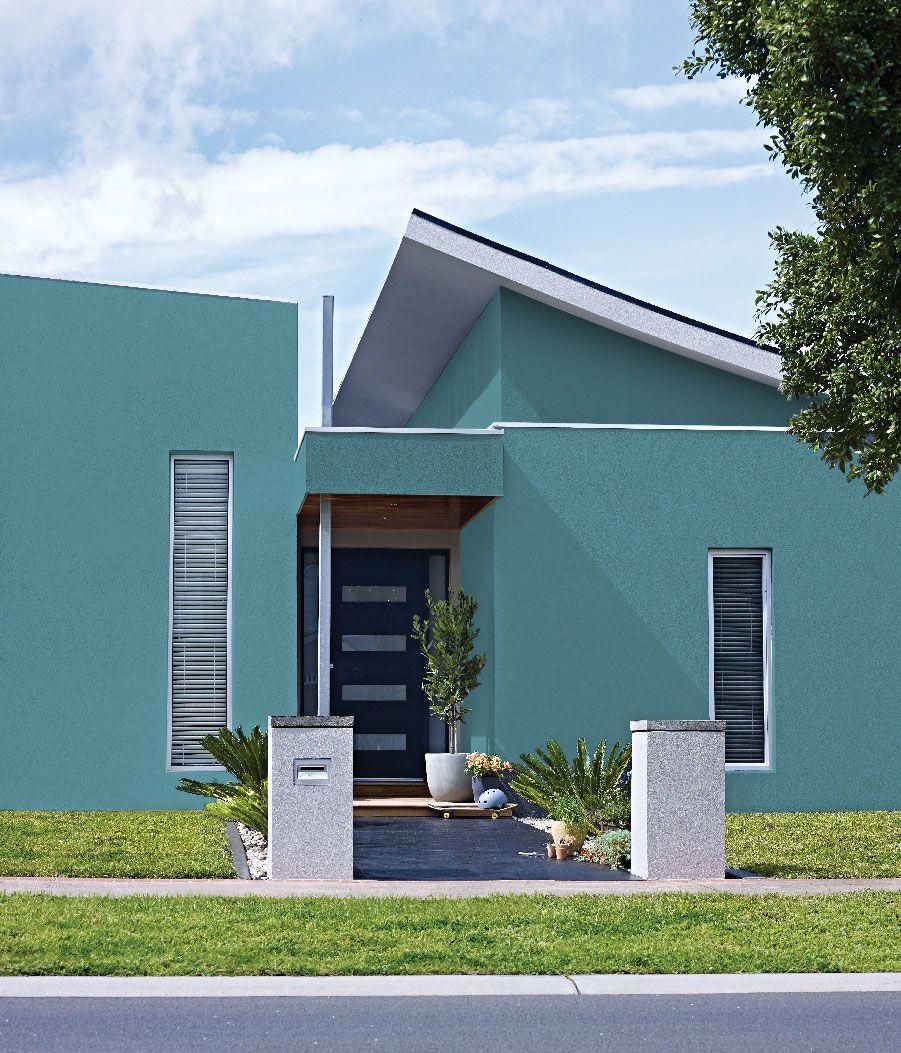 Casas pintadas color turquesa
