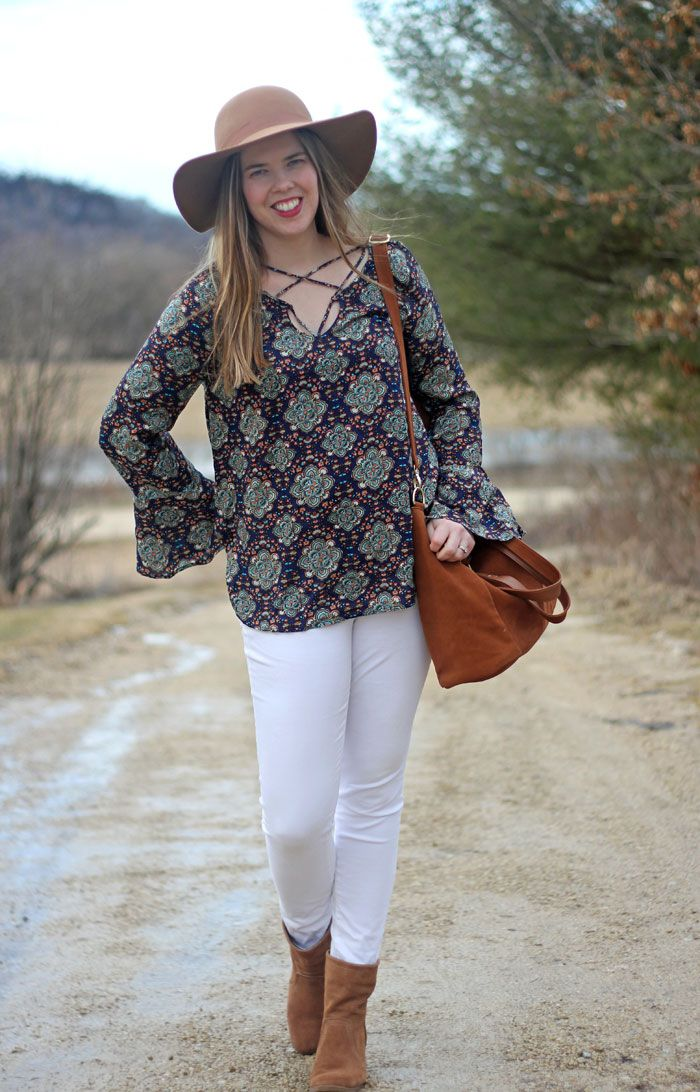 b95dcee4ba5 Feeling Boho with Knitted Belle Boutique  paisley tie top with belle  sleeves
