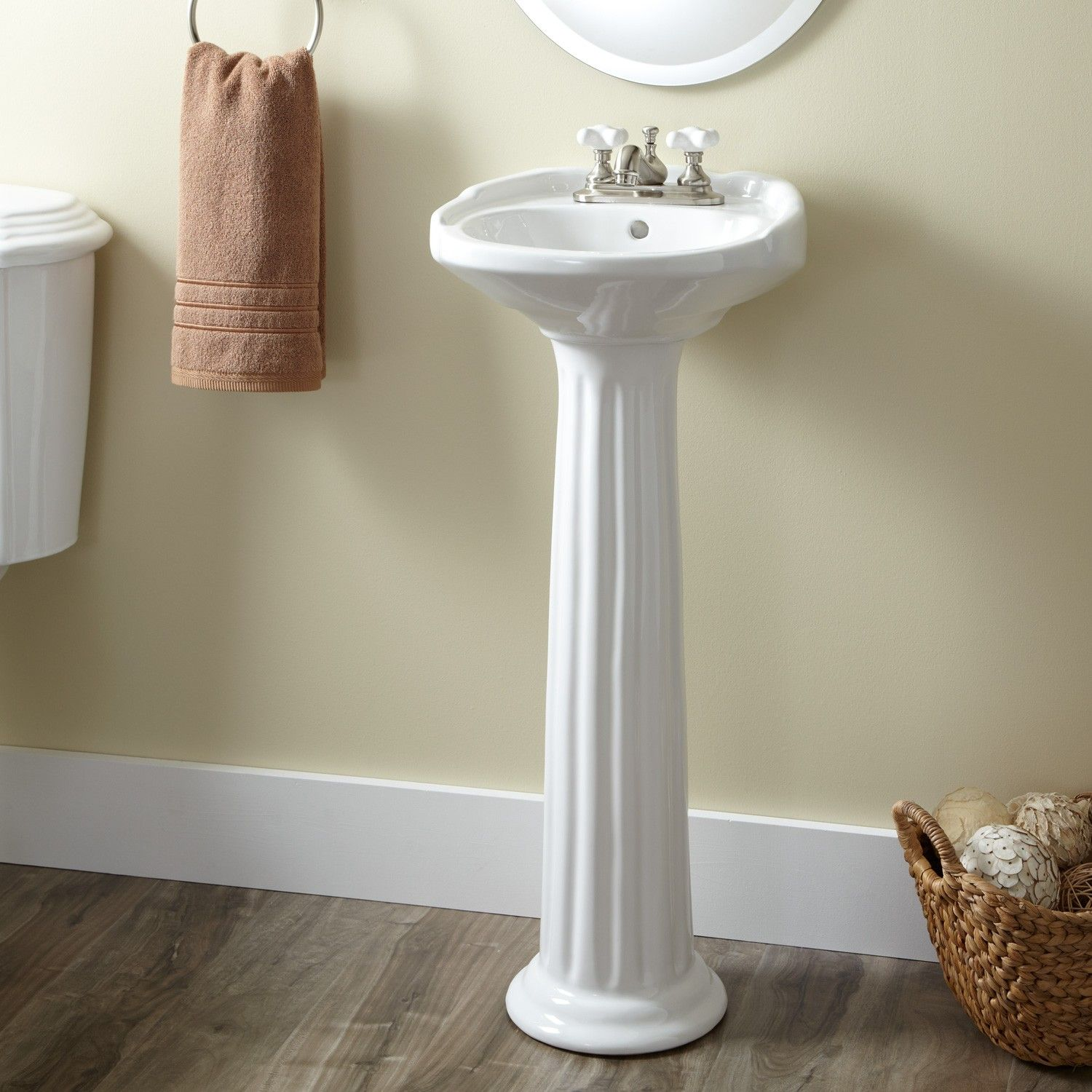 Ultra Petite Victorian Pedestal Sink   Pedestal Sinks   Bathroom Sinks    Bathroom