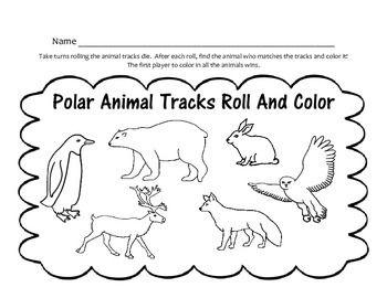 Polar Animals! Emergent Readers / Animal Tracks Roll and