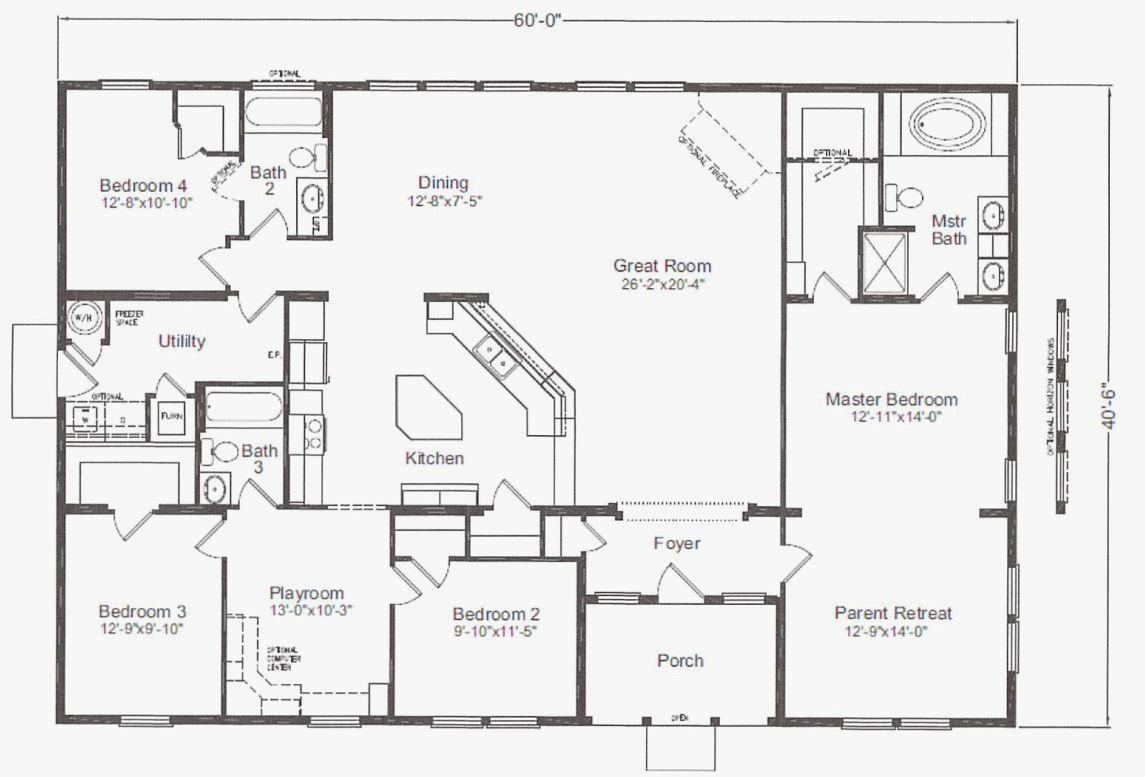 Floor Plans For 40X60 House in 2020