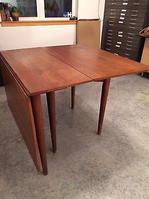 Mid Century Modern Conant Ball Makers Drop Leaf Table And 6 Chairs