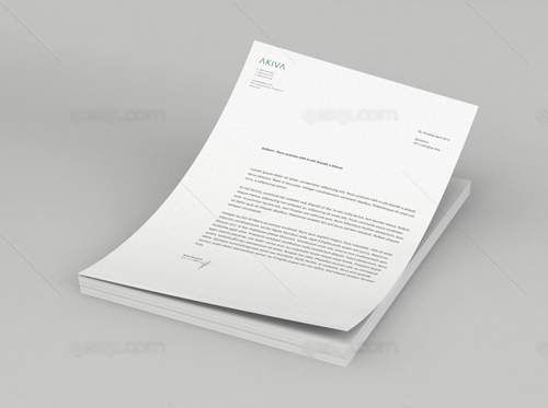 Template - Letterhead Mock up PSD Mock-Ups Pinterest Template - psd letterhead template