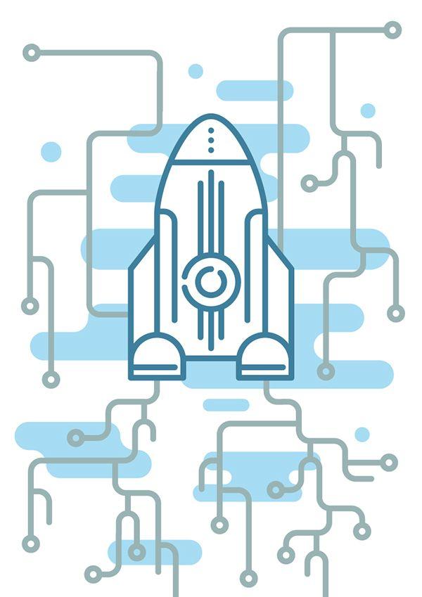 Иллюстрация для обложки буклета. on Behance