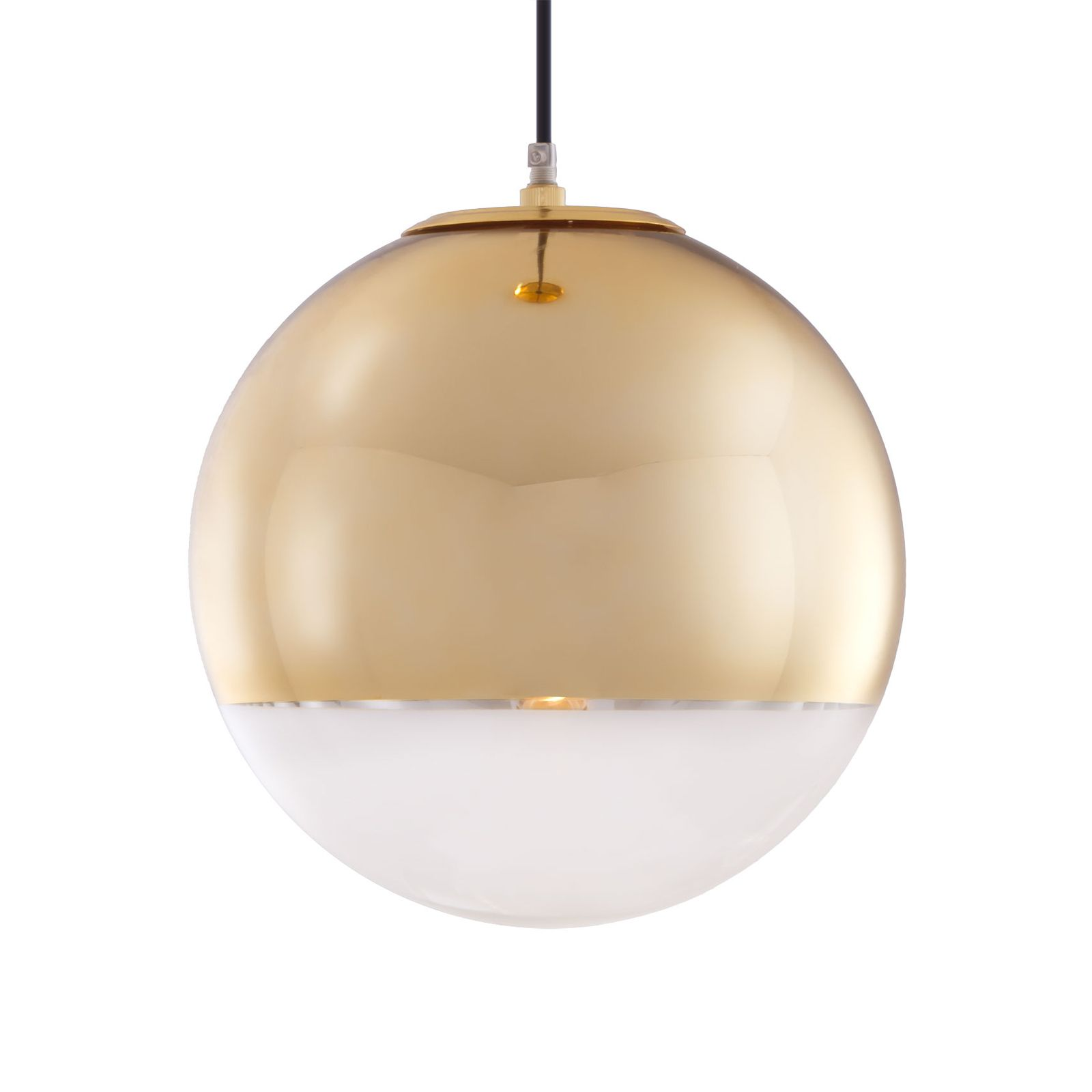 Elegant Sphere Pendant Lamp In Gold | Havenly, For Above The Dining Table