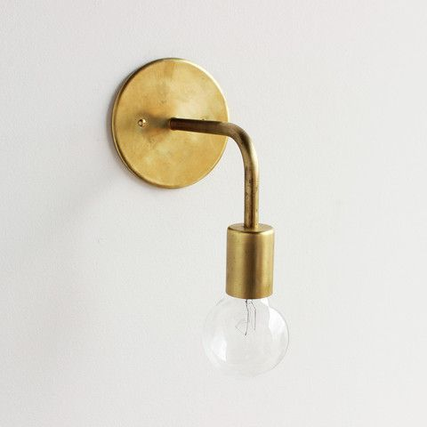 wall sconce solid color light walls bedside lighting and brass