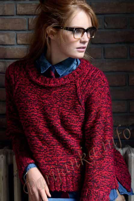 Пуловер (ж) 12*82 Phildar №3393
