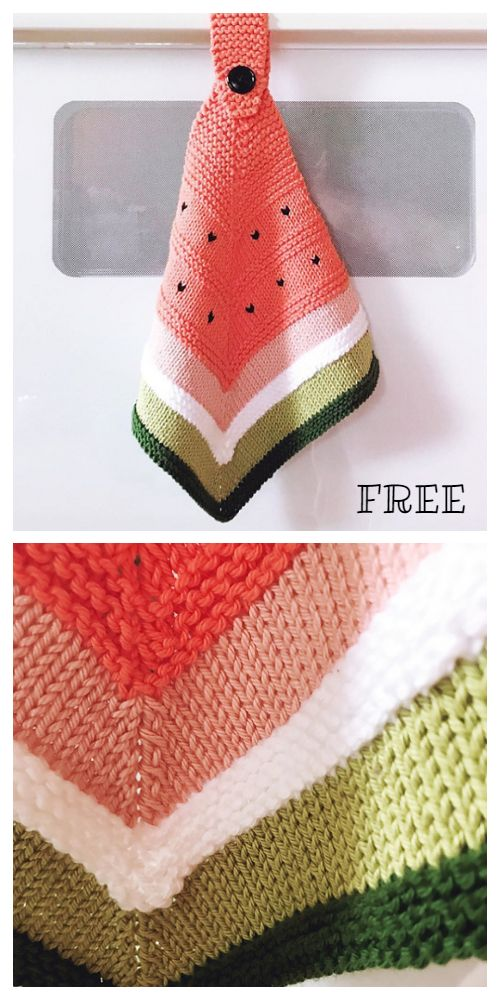 Easy Kitchen DishCloth Free Knitting Patterns - Knitting Pattern