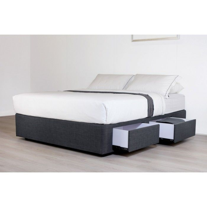 Mode Charcoal  Drawer Double Bed Base