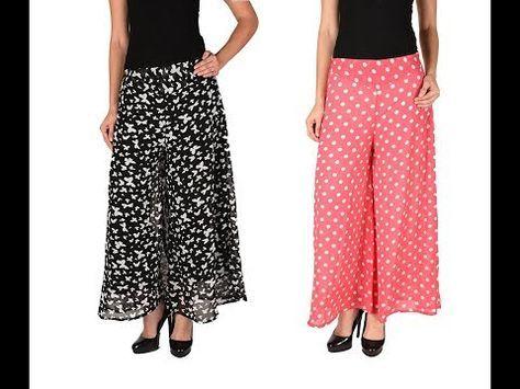 de0173e6eb75d How to make latest designer palazzo pants   Tuk pleats DIY - YouTube ...