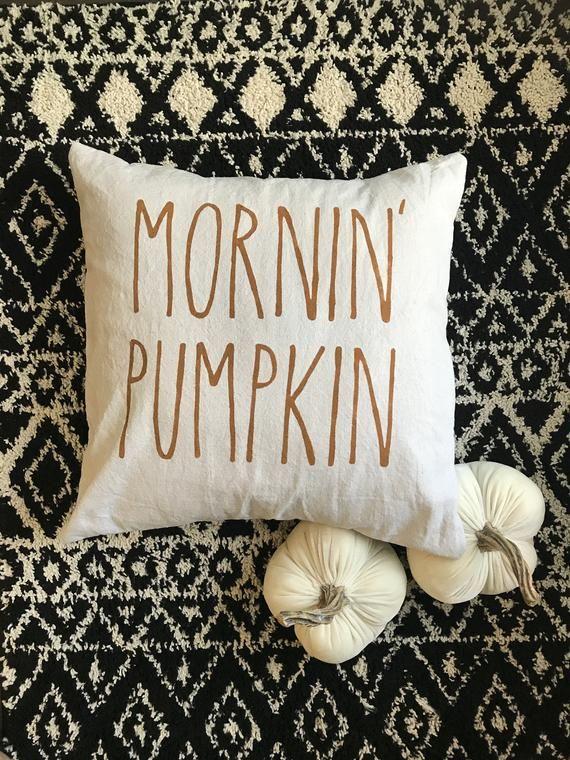 Mornin' Pumpkin Autumn Modern Farmhouse Pillow Cover