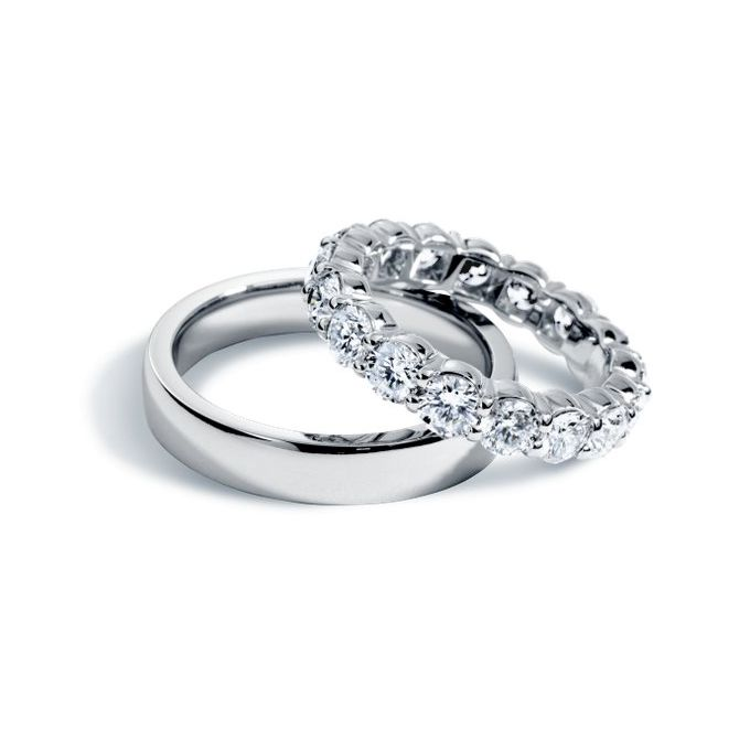 His and hers wedding bands from BlueNile That band would be