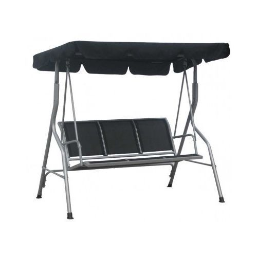 Black Garden Swing Chair Outdoor Metal Furniture Hammock Seat Canopy Sun Shade  sc 1 st  Pinterest & Black Garden Swing Chair Outdoor Metal Furniture Hammock Seat ...