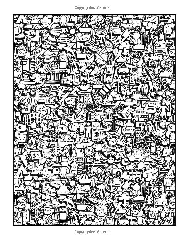 Coloring Page Doodle Book Vol 2