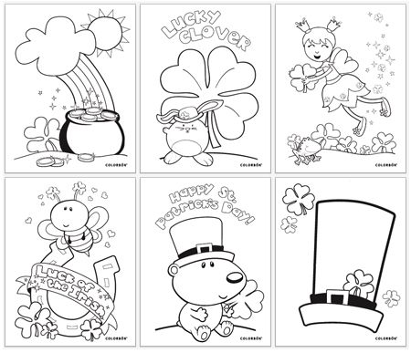 Download FREE Printable St. Patrick\'s Day Coloring Pages on the ...