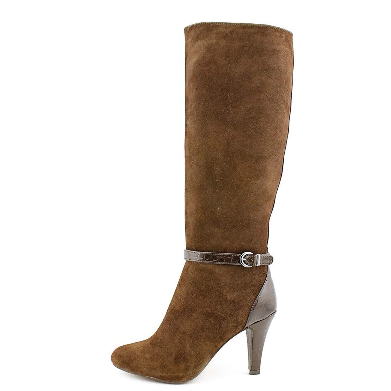 34e2fdd6e65c Alfani Women s Tosha Suede Knee High Dress Boots in Dark Brown Size 7