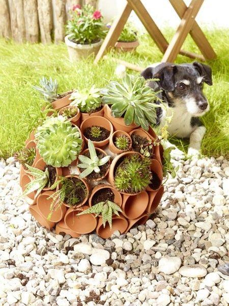 5 Einfache Diy-ideen Für Garten Und Balkon | Garten Gartendeko Tontopfen Selber Machen