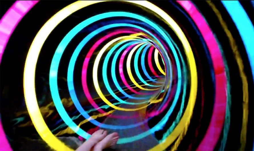 This Crazy Sci Fi Waterslide Is Like Sliding Through A Trippy Wormhole Parking Design Sci Fi Water Slides