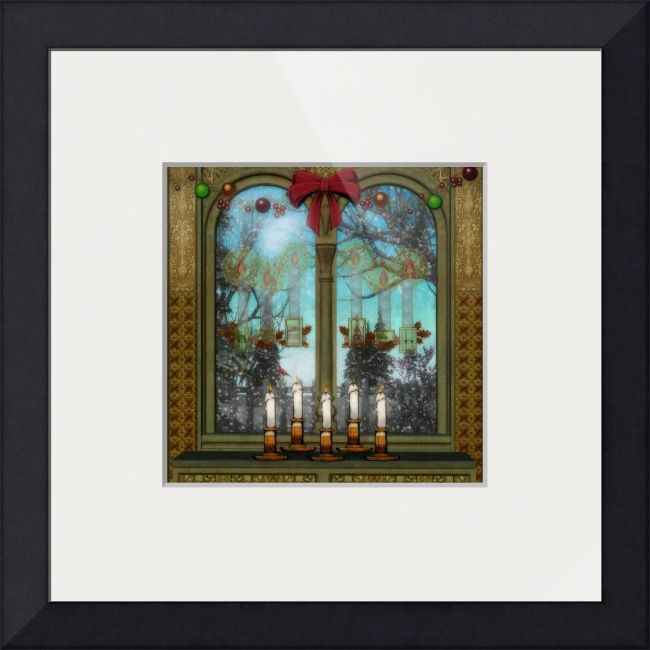"""""""Winter View"""" by Sharon Sims, Palm Harbor // A fun Holiday window scene. // Imagekind.com -- Buy stunning fine art prints, framed prints and canvas prints directly from independent working artists and photographers."""