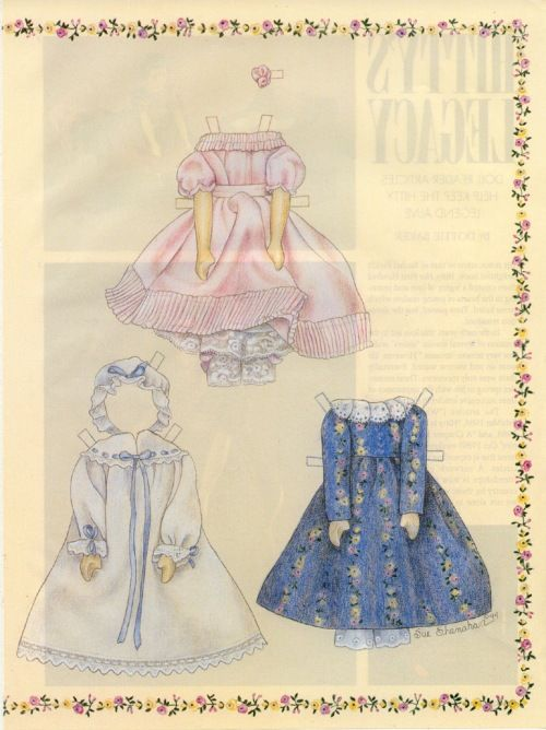 Hitty paper doll clothes