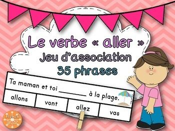 Le Verbe Aller Jeu D Association French Education Elementary Schools French Lessons