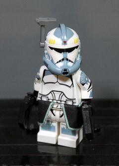 Lego Star Wars Clone Wars Capitaine Rex-Custom decaled lego figurine