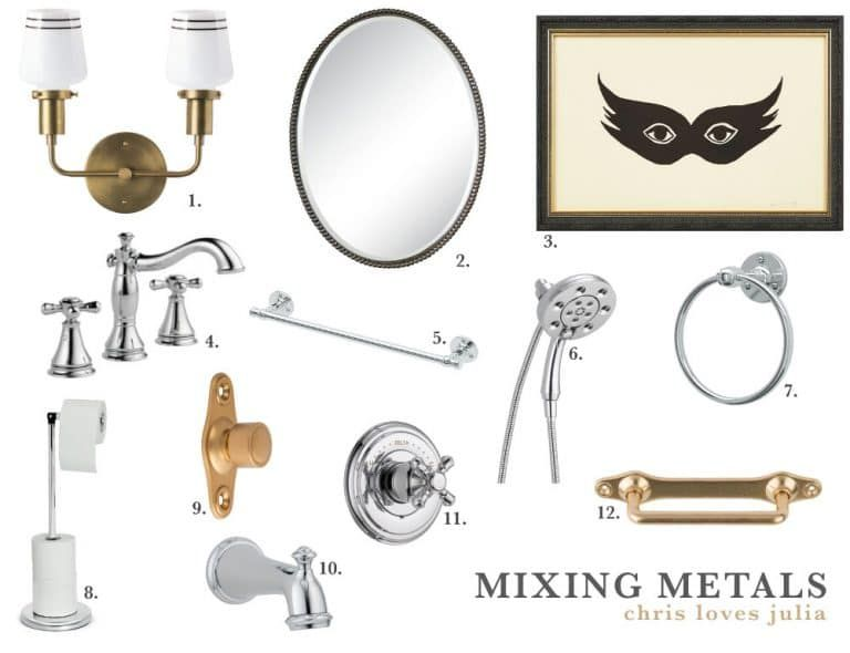 Photo of Mixing metals in the bathroom 101