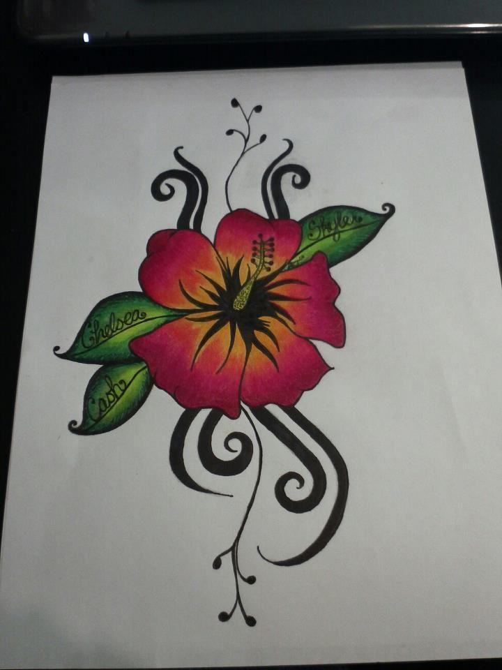 Hibiscus Tribal Tattoo By Ashiekinns On Deviantart Hibiscus Tattoo Tribal Tattoos Tropical Flower Tattoos
