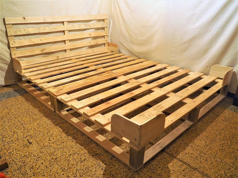 Lit 140x200 Bett Aus Paletten Bett Bauen Palettenbett