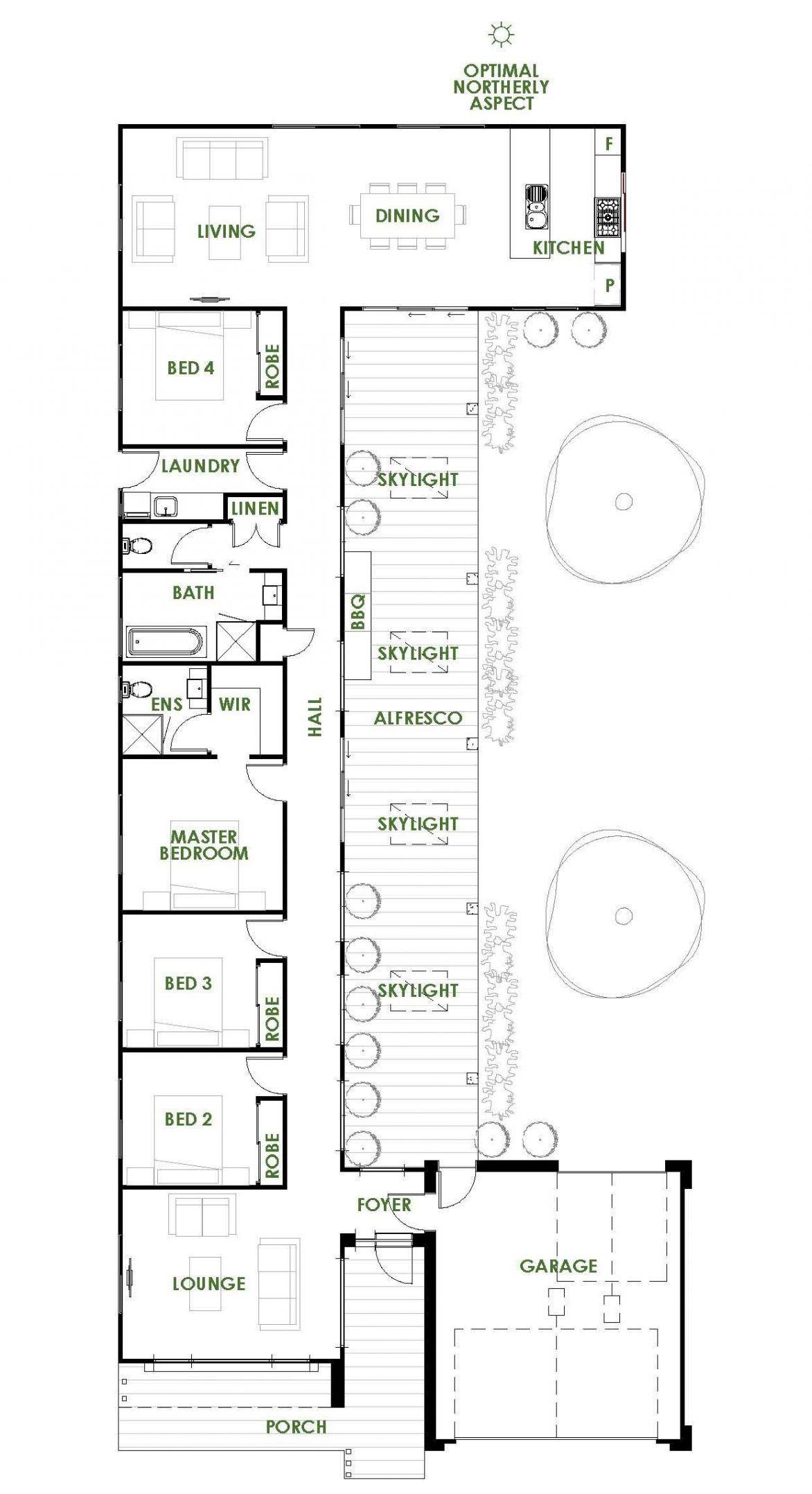 Rectangle 4 Bed Energy Efficient House Plans Solar House Plans House Plans Australia