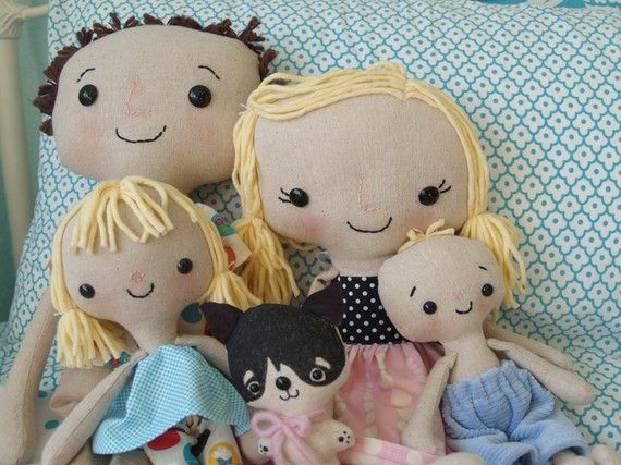 my second most viewed pictuer of flickr :) #custom #childfriendly #dolls made to look like your family.  whoot.